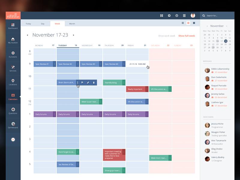 Calendar Module Sample